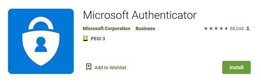Microsoft Authenticator app on Google Play