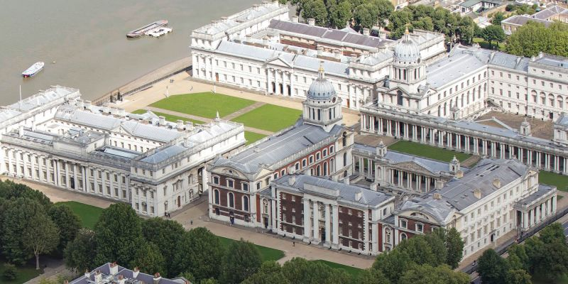 Aerial view of Greenwich Campus