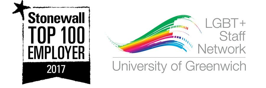 Stonewall top 100 employer logo