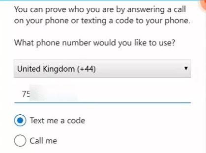 MFA Add Phone Number Screenshot